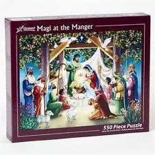 Vermont Christmas Magi at the Manger 550 Piece Jigsaw Puzzle Creche Fun