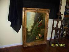 Art Deco c1930's Original Oil On Canvas Gold Ornate Frame Artist Signed