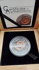 Ammonite, Evolution of Life, 500 Togrog, Mongolia 2015 with box and COA