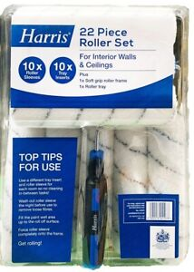 Harris 22 Piece Roller Set with Soft Grip Roller Frame & Roller Tray