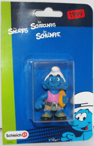 20468 Climber Smurf Plastic Figurine in Package 1999 Vintage 2-inch Figure