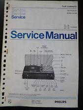 Original Service Manual  Philips TAP 22RH852