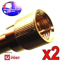 From OZ Quality 2PC 1/4 Plug to 3.5mm Screw In Stereo Jack 4 Mixer DJ Headphones