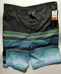 Ocean Current Boys Board Shorts Swim Trunks Multicolor Striped Size S Med Lg XL