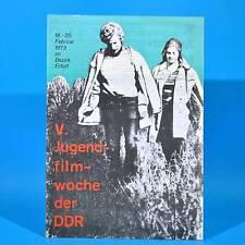 V. Jugendfilmwoche der DDR 18.-25. Februar 1973 im Bezirk Erfurt Frank Schöbel