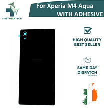 Replacement Battery Back Cover For Sony Xperia M4 Aqua Rear Panel Black New