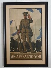 Original Great Britain WW1 Recruitment Poster An Appeal To You Lord Kitchener