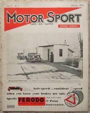 MOTOR SPORT Magazine Feb 1934 Vol 10 No 4 Alvis Speed