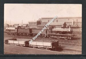 G & SWR Locomotives 379 & 174(?) & Wagons Unposted RP Card As Scanned