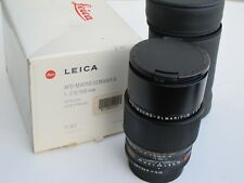 "Leica ROM APO-Macro-Elmarit-R 100mm f:2.8 lens with caps/BOX 11352 MINTY ""LQQK"""