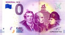 BELGIQUE Braine-l'Alleud, Mémorial 1815, 2018, Billet 0 € Souvenir