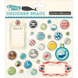 October Afternoon ~ TREASURE MAP ~ Designer Brads
