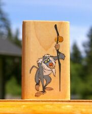 """The Lion King Rafiki 2 7/8"""" Wood Mounted Rubber Stampede Stamp by Disney A461-E"""