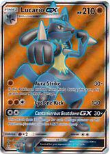 Pokemon SM - Forbidden Light Lucario GX #122 FULL ART Ultra Rare NM