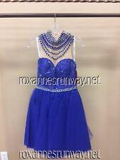 Sherri Hill 50538 Royal Blue Stunning Cocktail Dress sz 6 NWT