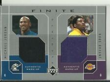 2002 Upper Deck Finite Game Used Warm-Up Jerseys Michael Jordan Kobe Bryant RARE