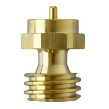 BBQ Grill Saver 1lb Propane Tank Gas Adapter Refill Brass Cook Backup Steak Eat
