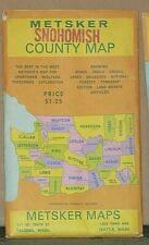 Early 1950's Metsker Map of the Snohomish County, Washington