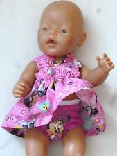 Puppenkleidung/Puppenbekleidung - Micky Maus pink..- Baby Born,Krümel, 43cm-NEU