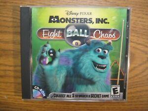 Monsters, Inc 8 Eight Ball Chaos Win 95/98 PC / Mac CDROM Disney Pixar Pool Game
