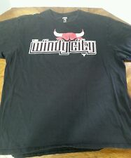 CHICAGO BULLS WINDY CITY UNK NBA BLACK T SHIRT XL