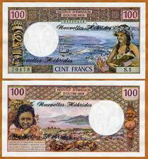 New Hebrides, 100 Francs, ND (1970 - 1977), P-18, UNC