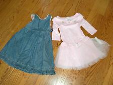 NWT!! Girls Lot of 2 BCX GIRL Pink Dress & AMERICAN LIVING Denim Dress Size 5