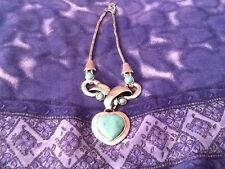 Stunning Tibet Silver Heart Necklace