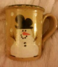 Three Rivers Pottery SNOWMAN MUG / Cup 1994 Ohio USA Mary 77