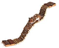 Flexible Wooden Ladder Suspension Bridge Hamster Mouse Rat Rodents Toys