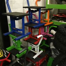 Motocross Dirt bike Pro Range MX Lift Stand Enduro Trials Green Kawasaki