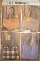 Butterick Sewing Pattern 3282 Misses 4 Styles Handbags Bags One Size