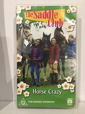 THE SADDLE CLUB ~ HORSE CRAZY ~ VHS VIDEO