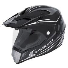 Held Alcatar Offroad-helm mit Sonnenblende Schwarz-weiss L