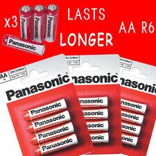 12 PACK NEW PANASONIC HEAVY DUTY AAA AA BATTERIES R6 SIZE M 1.5V VOLTS 4 8 24 48