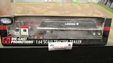 DCP #32535 LANDSTAR INTERNATIONAL IH LONESTAR TARPLOAD FLAT BED TRAILER 1:64/ FC
