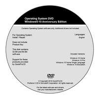 Windows 10 DVD All Versions 32 & 64bit Restore Repair Install Upgrade w/HD