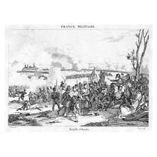 Guerra peninsular Batalla De Ocana 1809-antigua de impresión de 1837