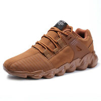 outlet store sale 14ab6 91a24 Mens Suede Black Brown Gray Casual Sports Shoes Cross Trainer Running Shoes