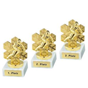 3 Skifahrer-Pokale (Abfahrt) mit 1.2.und 3.Platz oder Wunschgravur (P0443)