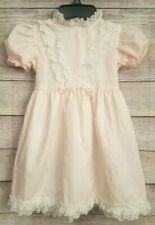 Vintage Winnie The Pooh Sears Roebuck Girl's Pink Ruffle Dress Size 6X Disney