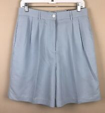 NWT Ashworth Women's Pleated Front Light Blue Walking Shorts sz 12