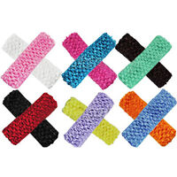 EG_ 12Pcs Toddler Baby Kid Girl 12 Colors 1.5'' Crochet Headbands Hair Bands Sho