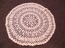 beautiful vintage hand crochet crocheted doilie All bright white
