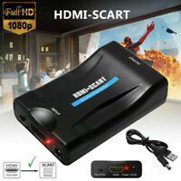 1080P HDMI a SCART Adattatore Video Audio Converter USB Cable TV DVD PS3 SkyBox