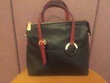 Nwot Carpisa Spain Black Burgundy Straps Shoulder Bag