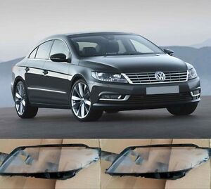 Volkswagen CC 2013 New Left and Right Front Kit Cover Lens for Headlights