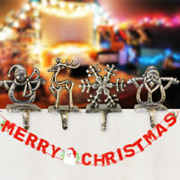 Christmas Tree Xmas Decorations Santa Claus Stocking Hangers Fireplace Hooks UK