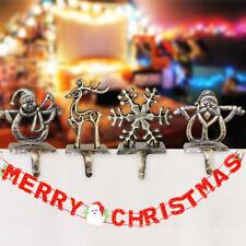 Christmas Stocking Holder Hanger Xmas Tree Hanging Fireplace Hooks Decoration UK