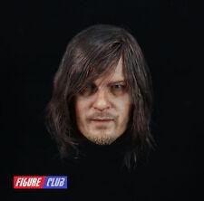 █ Custom Daryl Dixon Norman Reedus 1/6 Head Sculpt Walking Dead for Hottoys Body